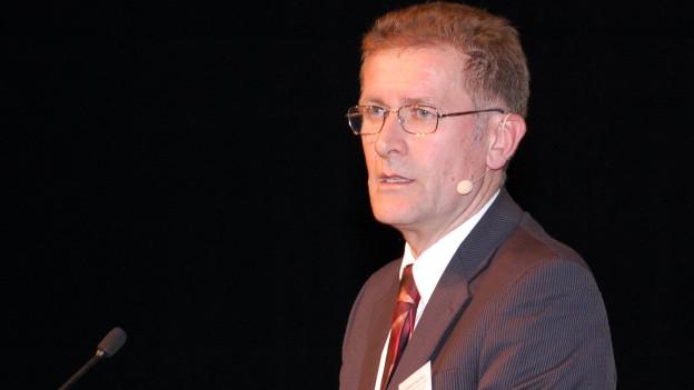 Regierungsrat Christoph Neuhaus sprach in Thun über die Raumplanung.