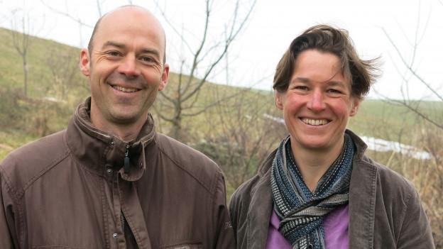 Ursula Yelin und Stephan Aeschlimann sind begeistert von speziellen Pflanzen.