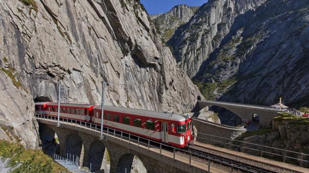 Die Matterhorn Gotthard Bahn war im letzten Geschäftsjahr positiv unterwegs.