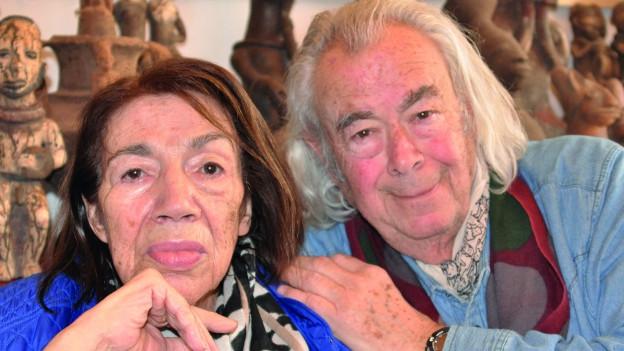 Meret Meyer Scapa mit ihrem Mann Ted Scapa.