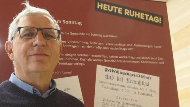 Ulrich Zwahlen im Dorfmuseum Krauchthal