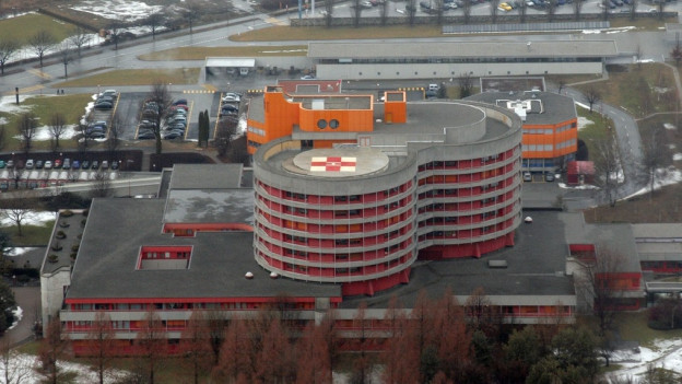 Luftbild Spital Sitten.