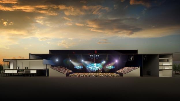 So sehen die Pläne für die neue Eventhalle aus.