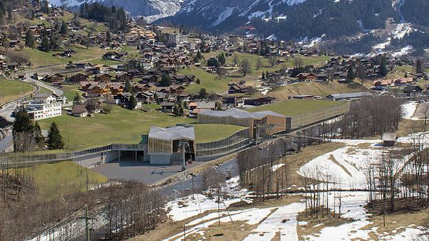 Die Talstation Grund bei Grindelwald mit dem geplanten Parkhaus.