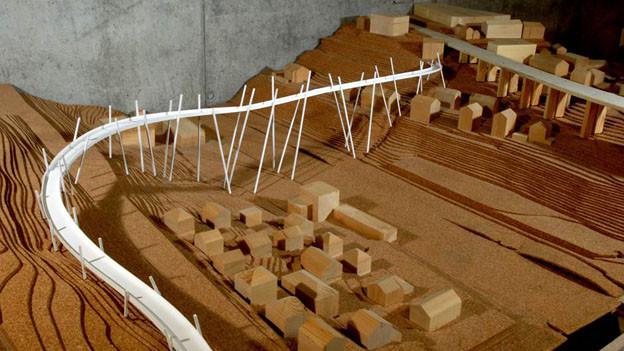 Der Velosteg über die Aare - Modell der Fachhochschule Freiburg von 2008