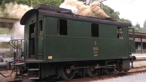 Die Kastenlokomotive mit Baujahr 1936 war in den letzten Jahren in Erstfeld im Einsatz.