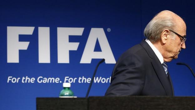 Sepp Blatter geht.