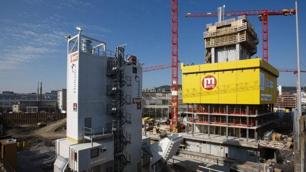Baustelle der Baufirma Marti.