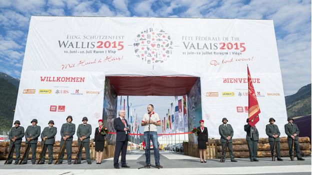 Das Eidgenössische Schützenfest im Oberwallis ist eröffnet