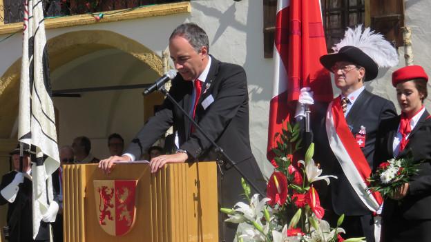 Das schönste Fest überhaupt: OK-Präsident Christophe Darbellay.