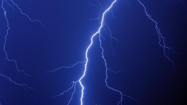 Gewitter sorgten für einen unruhigen Sonntagabend.