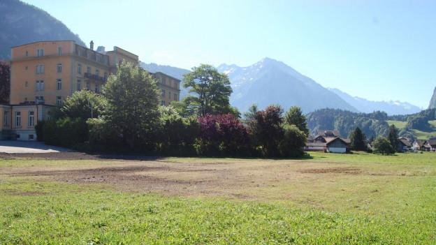 Seit 22 Jahren bereit für ein Tourismus-Projekt: Die «Sauvage-Matte» in Meiringen.