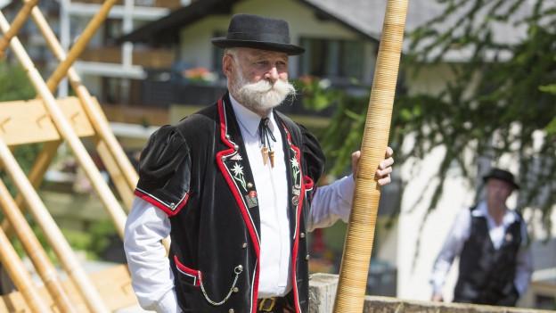 In Saas Fee wurden Schweizer Traditionen aufwändig gepflegt.