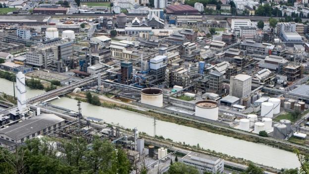 Die Quelle der Quecksilber-Verschmutzung: Die Lonza in Visp.
