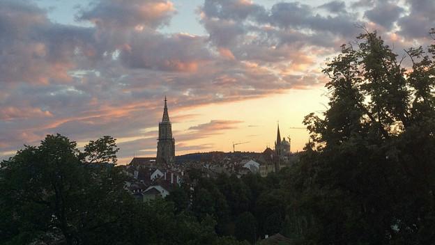 Beliebt - nicht nur bei Sonnenuntergang: Die Stadt Bern.