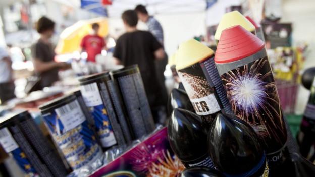 Das Geschäft der Feuerwerkverkäufer konzentriert sich auf die letzten Tage vor dem 1. August.