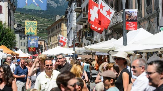 Über 80'000 Besucherinnen und Besucher am Wallis-Fest in Sitten.