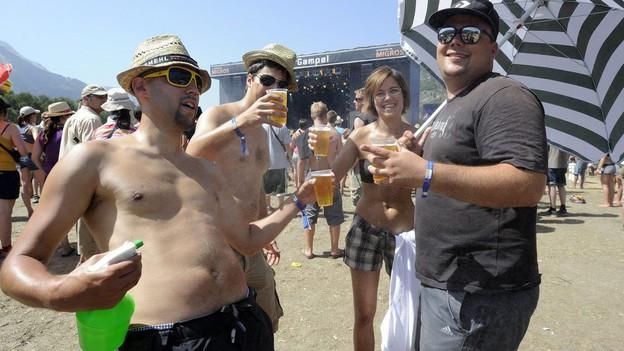 Mehr Party als Musikfest - das Open Air Gampel hat seine Bestimmung gefunden.