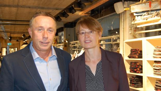 Fredy und Silvia Bayard in ihrem neuen Geschäft in Bern.