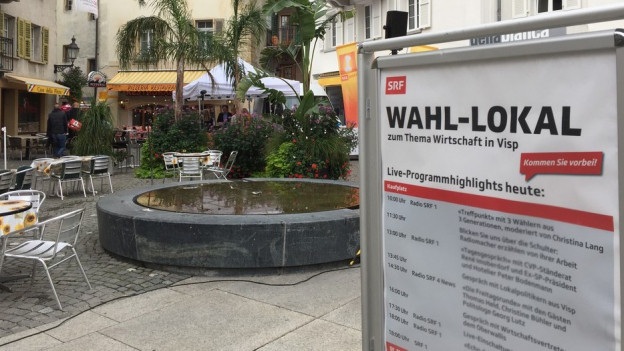 Radio SRF zu Gast in Visp.