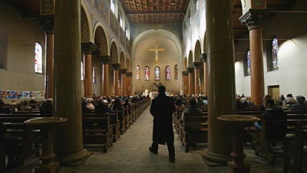 Feier in der Dreifaltigkeitskirche in Bern.