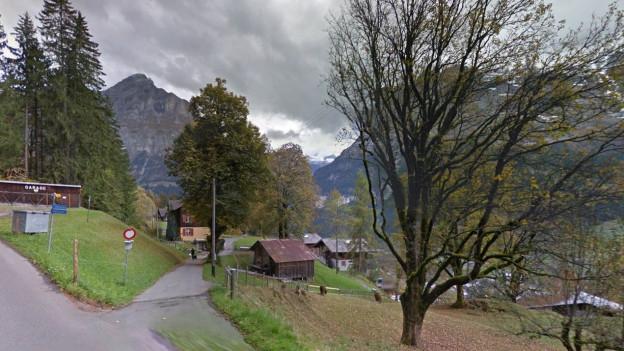 Blick Richtung Sonnenbergweg in Grindelwald