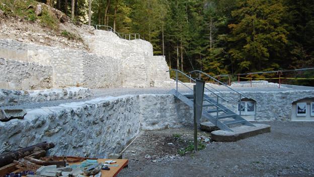 Die Überreste des hinteren Weissenburgbades sind restauriert.