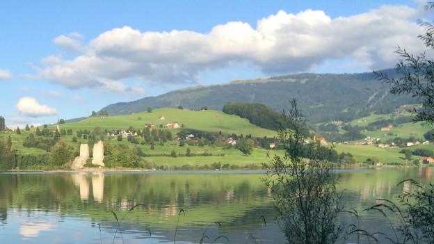 Der Kanton will haushälterischer mit Bauland umgehen - Blick auf Pont-la-Ville am Greyerzersee.