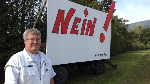 Organisiert den Widerstand gegen den Fahrenden-Durchgangsplatz in Meinisberg: Raphael Steiner