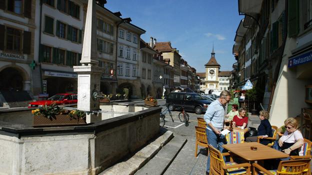 Historisches Stadtzentrum von Murten.