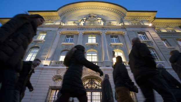 Das Hauptgebäude der Nationalbank in Bern