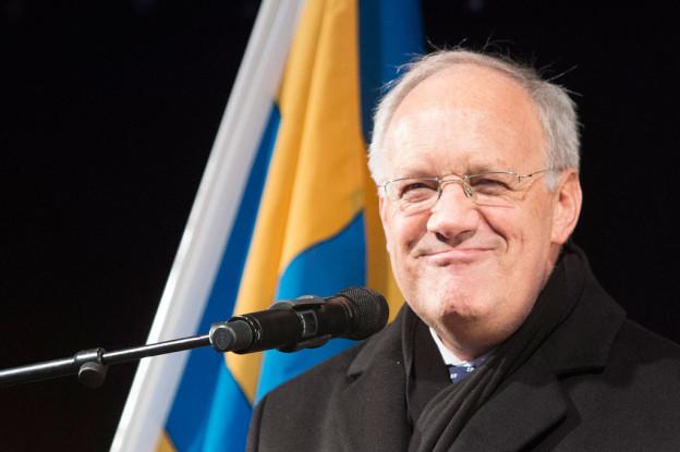 Der neue Bundespräsident Johann Schneider-Ammann genoss den Auftritt in seiner Heimat sichtlich.