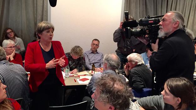 Margret Kiener Nellen nach der Nomination