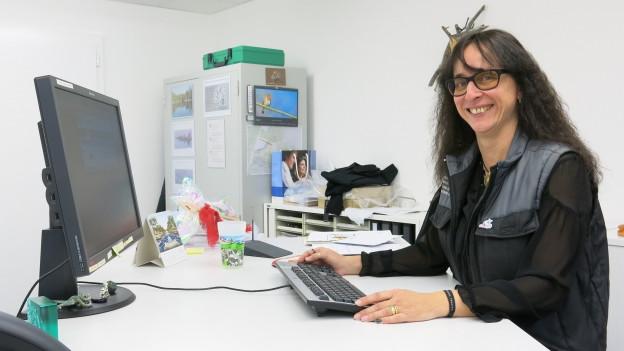 Barbara Wyssbrod in ihrem neuen Büro.