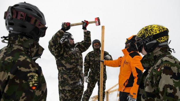 Die Vorbereitungen am Lauberhorn laufen auf Hochtouren.