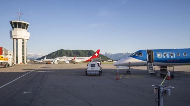 Auf dem Flughafen Bern Belp sollen wieder Charterflüge mit Skitouristen aus Grossbritannien landen.