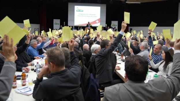 Einigkeit bei den SVP-Delegierten in Kirchberg.