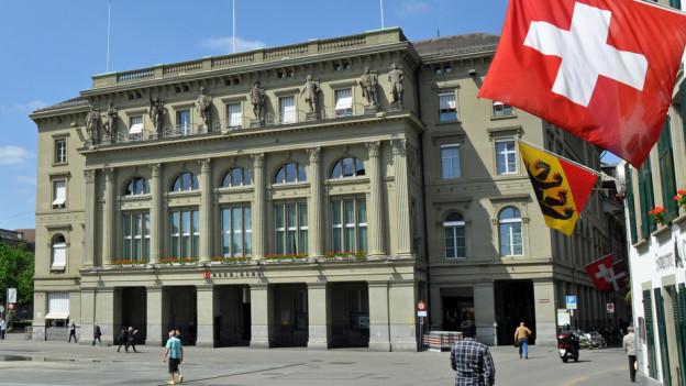 Sonnige Zeiten trotz tieferen Zinsen: Der BEKB-Hauptsitz am Bundesplatz.