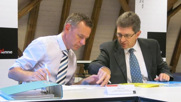 «Rechtsverstösse und Pannen» in der Causa Feurer: Beat Feurer (links) und Stadtpräsident Erich Fehr.