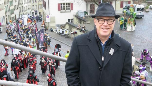 Thomas Göttin wohnt seit 25 Jahren in Bern. Der Berner Stadtratspräsident kommt ursprünglich aus Basel und ist ein eingefleischter Fasnächtler.