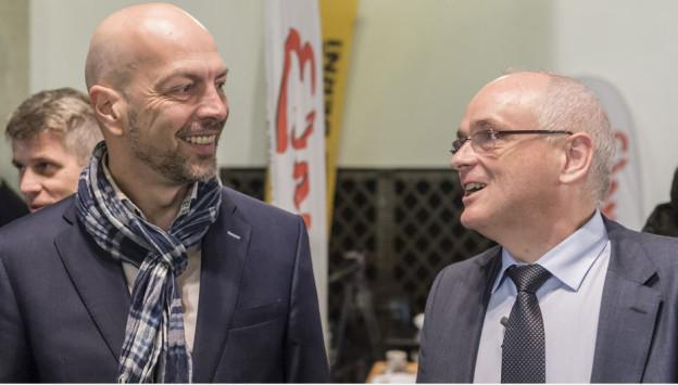 Roberto Bernasconi SP (links), Pierre Alain Schnegg, SVP
