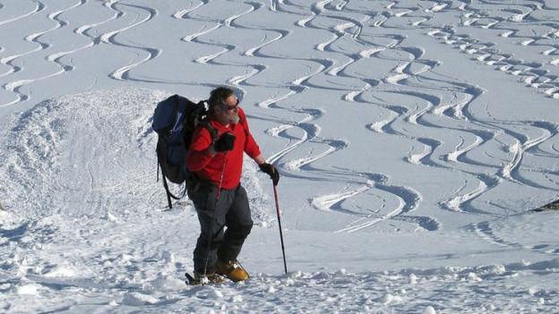 Skitourenfahrer und Naturschützer kommen sich am Schwarzhorn ins Gehege.