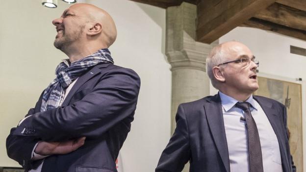 Roberto Bernasconi (links) oder Pierre-Alain Schnegg-wer schafft den Sprung in den Regierungsrat?