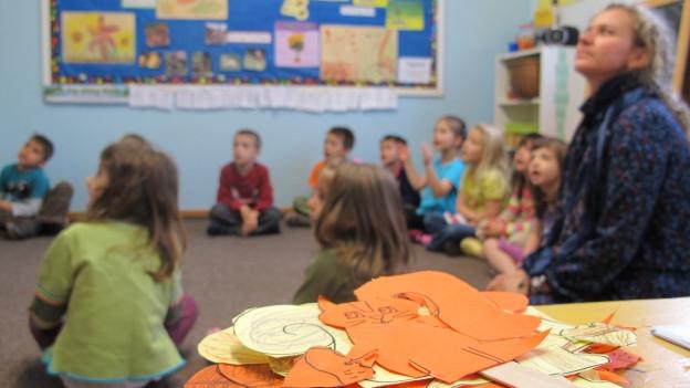 Kinder der Unterstufe werden ab 2018 nach dem neuen Lehrplan unterrichtet.