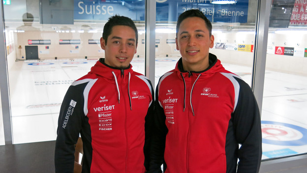 Marco und Enrico Pfister sind zusammen erfolgreich auf dem Eis.