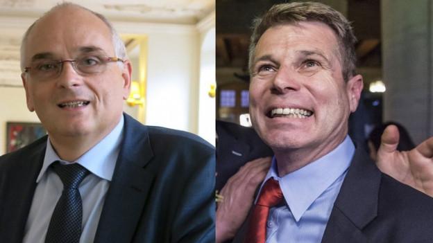 Pierre Alain Schnegg (r.) und Christoph Ammann.