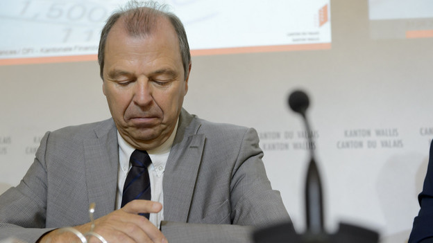 Das Bild zeigt den Walliser CVP-Staatsrat Maurice Tornay.