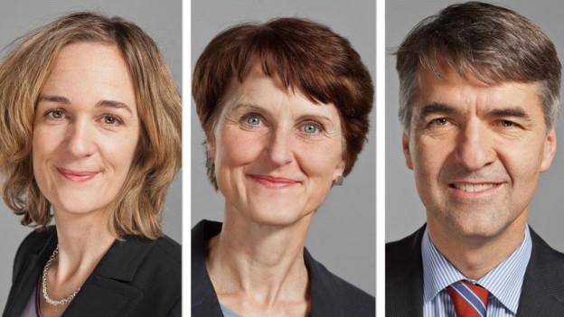 Wollen alle ins Stadtpräsidium: Ursula Wyss (SP), Franziska Teuscher (GB), Alec von Graffenried (GFL).