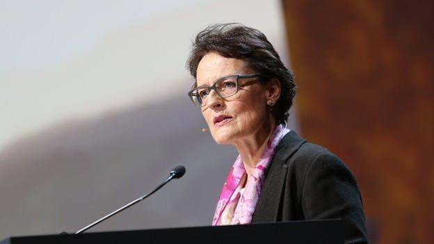 Antoinette Hunziker an der Generalversammlung in Bern.