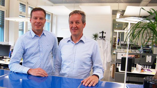 Die SEF-Gründer Stefan Linder (links) und Peter Stähli ziehen sich zurück.